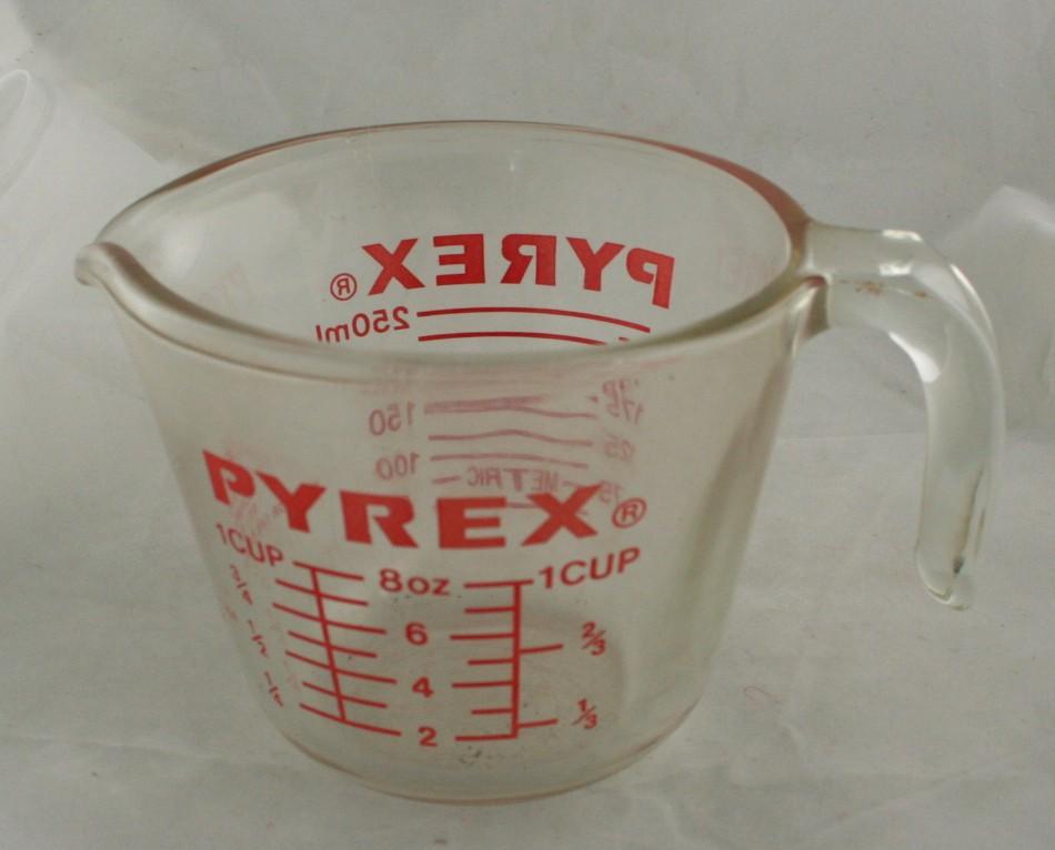 vintage glassware, Pyrex,measuring cup, 1 cup