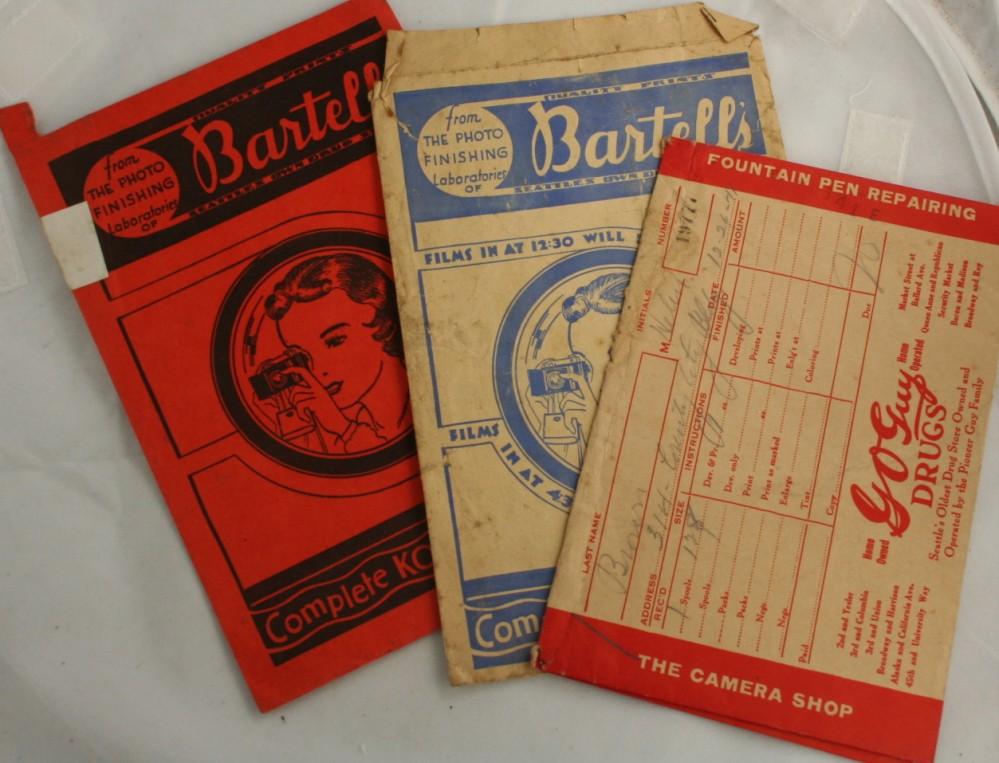 vintage photo folder,camera,Kodak, Seattle, WA