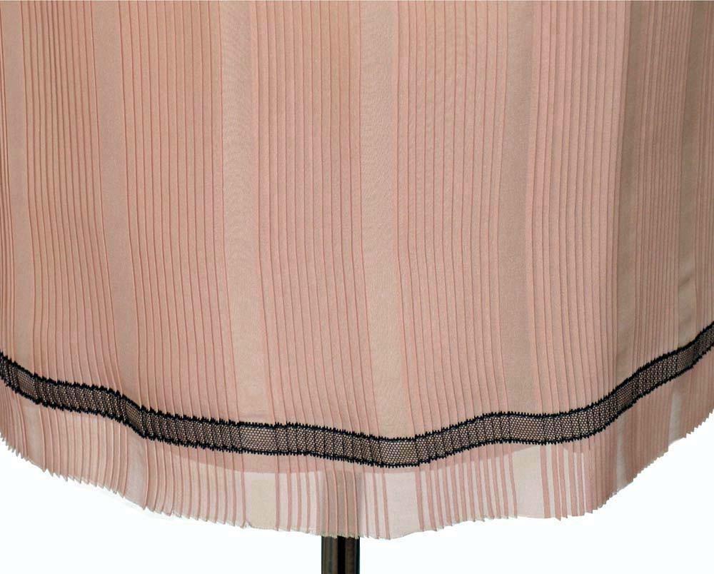 MARC JACOBS Runway Pink Amp Black Pleated Silk Slip Skirt