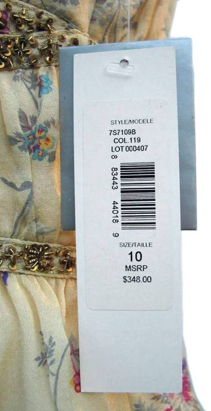 BADGLEY MISCHKA Silk Floral Print Blouse Camisole Top Size 10 NWT EBay