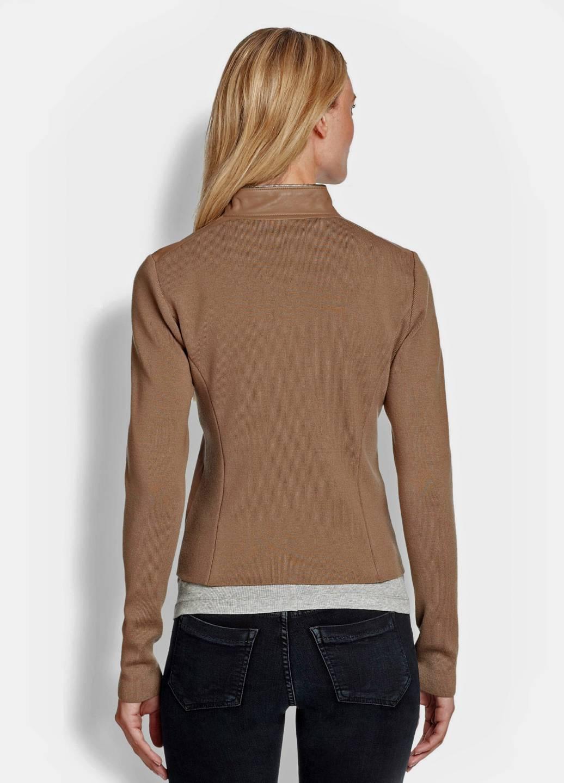 ELIE TAHARI Laser Cut Leather Perforated Paneled Wool SHIRA Jacket XL 998 EBay