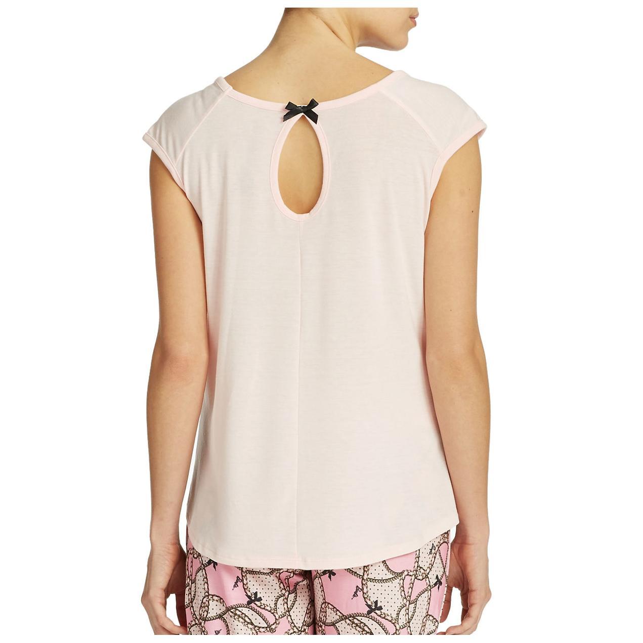 MATTEL BARBIE Adult Pink Knit Pajama Sleep Top Amp Bottom
