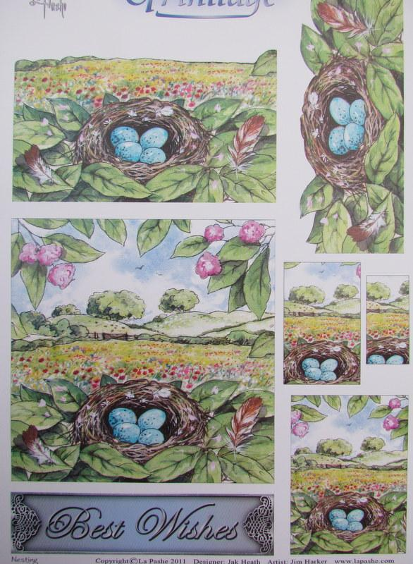 3D Trinitage Pop-up Card Making Paper Tole Birds Nest NEW ...