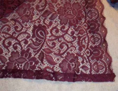 NIP CHIC AND ROMANTIC BURGUNDY FLORAL LACE WINDOW SCARF CURTAINS EBay