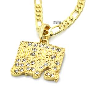 ICED OUT CHIEF KEEF GLORY BOYZ NECKLACE PENDANT W 5mm 24