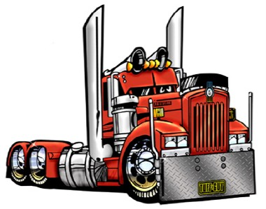 CARTOON BIG RIG SEMI TRUCK T SHIRT 9081 KENWORTH HAULER