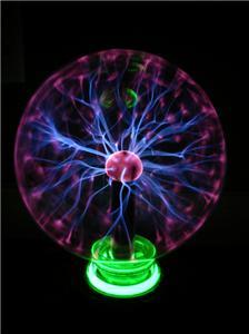 Large Plasma Ball Lamp Lightning Sphere on Neon Ring eBay