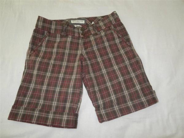 New Women's Abercrombie & Fitch Plaid Walking Shorts ...