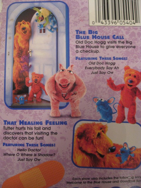 8 Big Blue Volume Vhs Bear 2 House Vhs