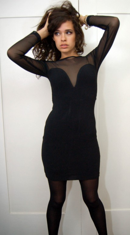 Vintage designer mesh sweetheart mini dress