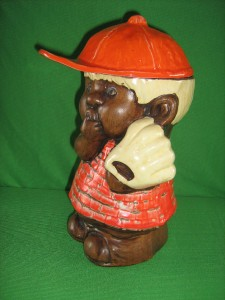 Packrat Granny Collection Vintage Baseball Boy Cookie