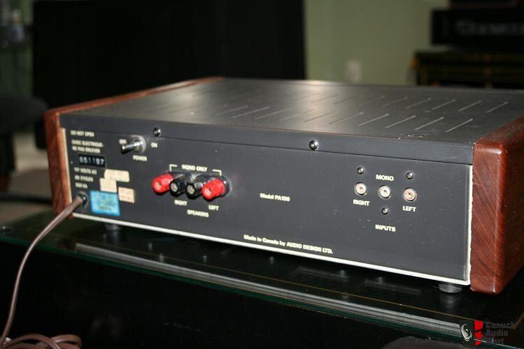 AUDIO DESIGN PA 100 MOSFET POWER AMPLIFIER Photo 106312