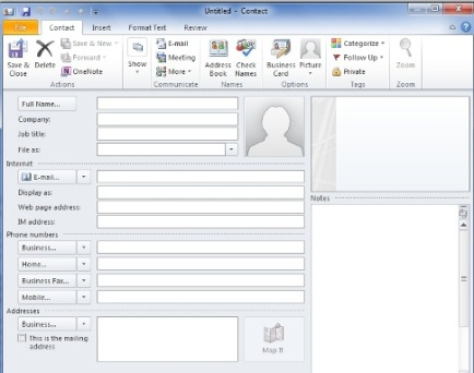 how to add new contacts in microsoft outlook