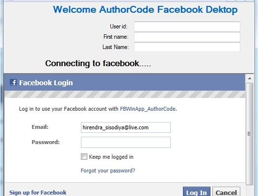 Your First Facebook Windows Application in C# - AuthorCode