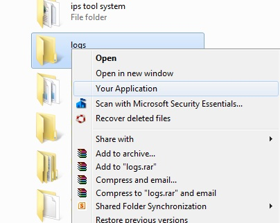 How to add a context menu to the Windows Explorer in C# - AuthorCode