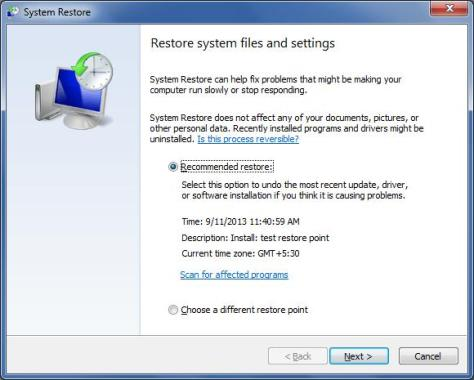 windows restore point-1