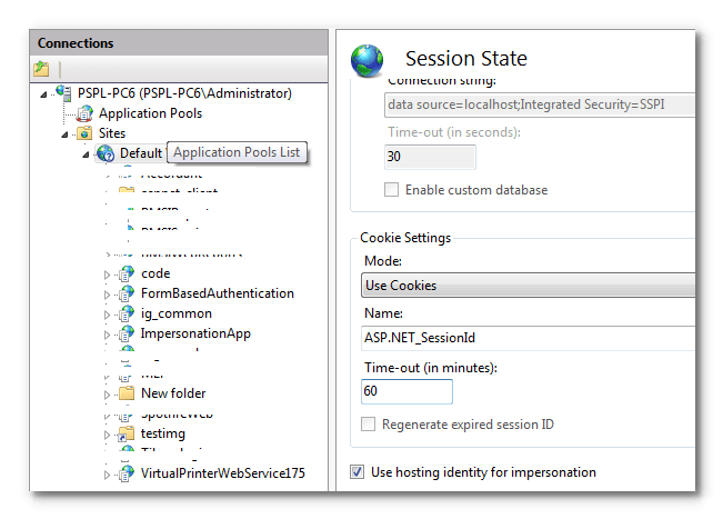 Set the default Session TimeOut for your ASP NET application