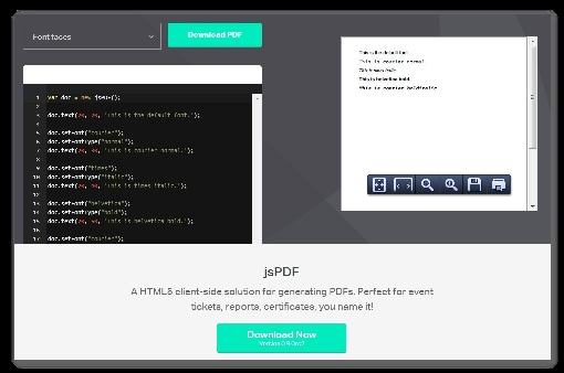 Create the PDF at client side in HTML5