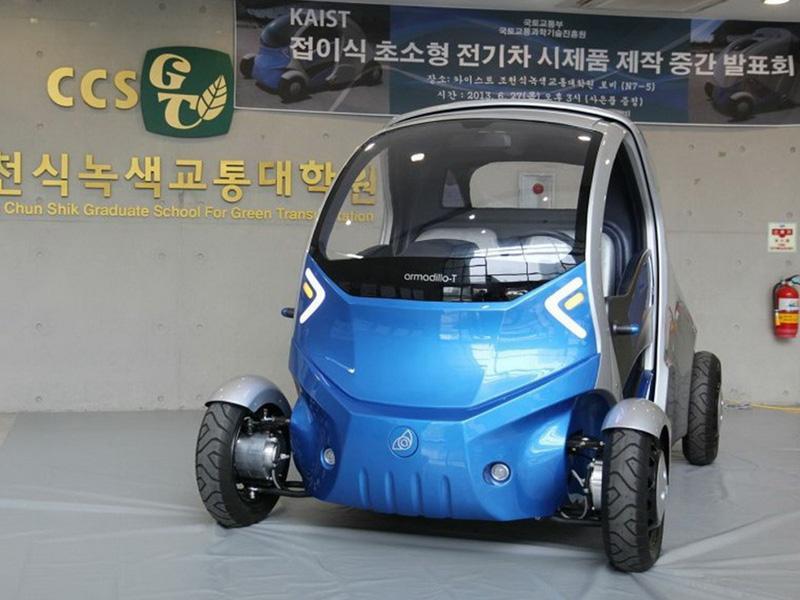 Genial vehículo que se encoge para que lo estaciones