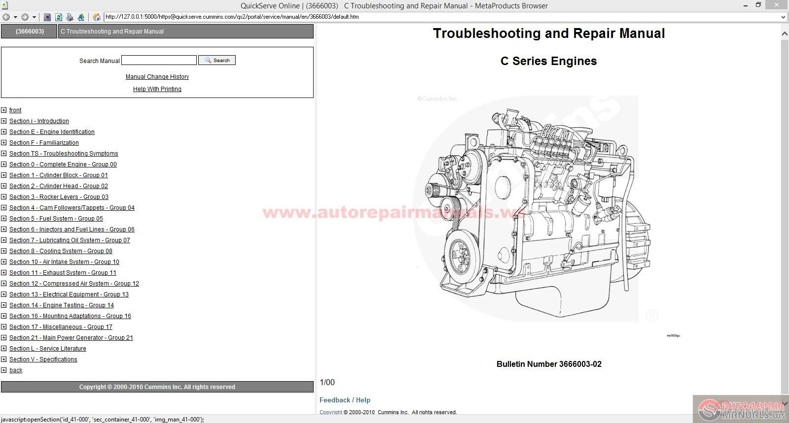 Cummins C Series Troubleshooting And Repair Manual Auto Repair Manual Forum