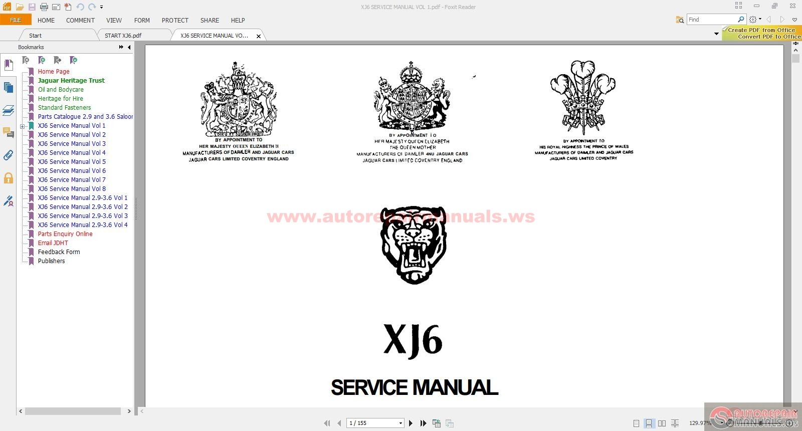 Jaguar Xj6 Parts And Service Manual Cd