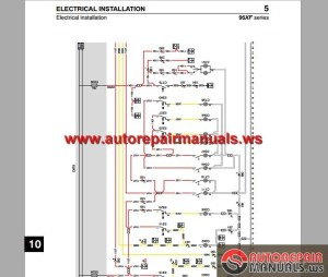 DAF 95 XF Electrical Wiring Diagram | Auto Repair Manual