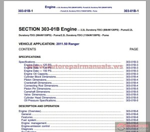 Ford Ranger 2012 Workshop Manual | Auto Repair Manual Forum  Heavy Equipment Forums  Download