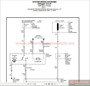 ISUZU TROOPER 1990 System Wiring Diagram | Auto Repair Manual Forum  Heavy Equipment Forums