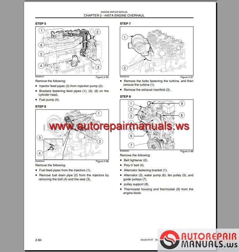 Case Loader Backhoe 580M Series 3 Shop Manual