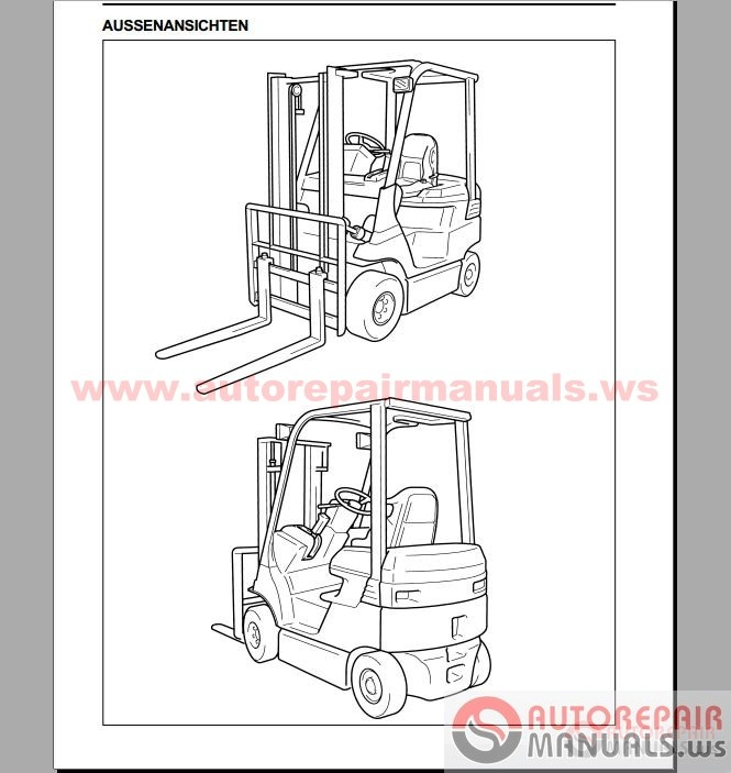 toyota forklift  industrial equipment repair manual