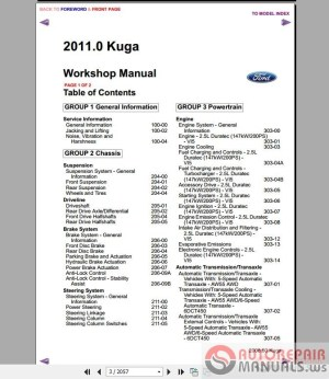 Ford Kuga MK1 2011 Workshop Manual  Wiring Diagram | Auto Repair Manual Forum  Heavy Equipment
