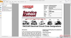 Auto Repair Manuals: Kenworth Truck Service Manual, Owner