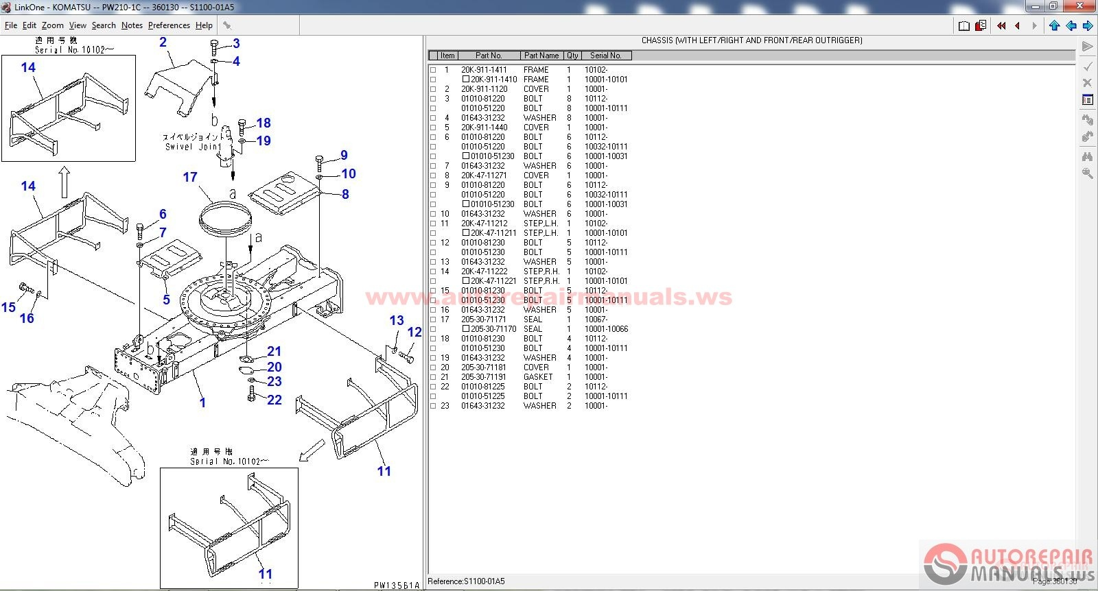 Komatsu Construction Parts Catalog 07