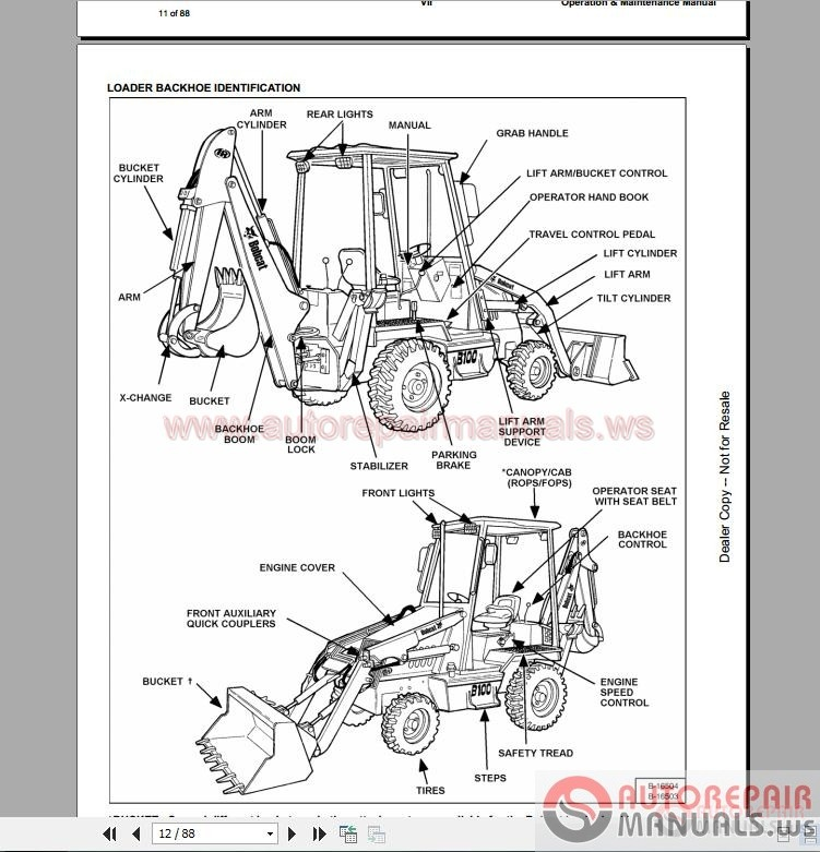 Bobcat S300 Wiring Diagram S300 Bobcat Owner's Manual