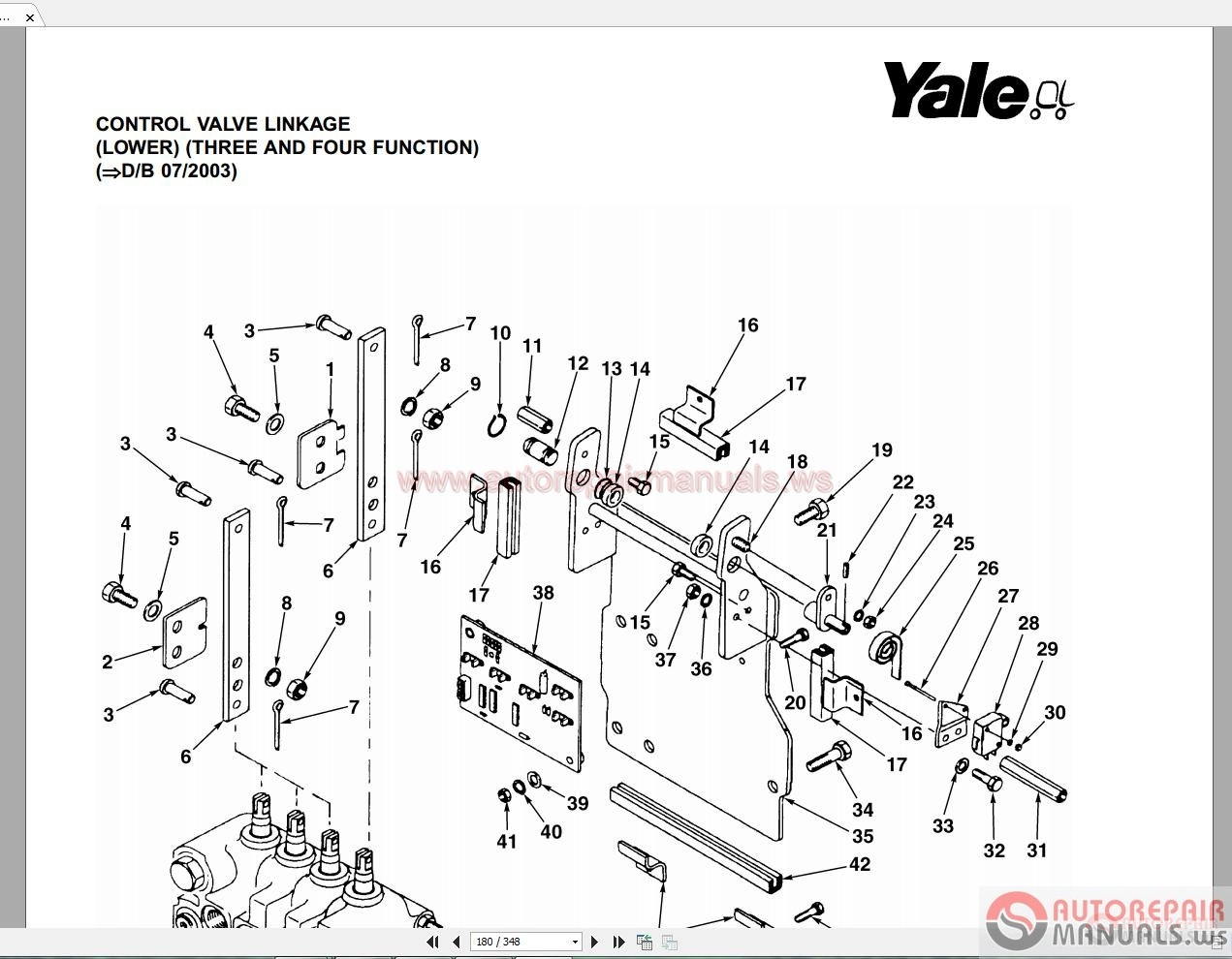 Auto Repair Manuals Yale Forklift Spare Parts Full Set