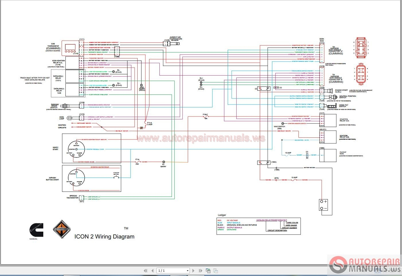 WRG-7488] Wiring Diagram For A 2007 9200 International Truck on