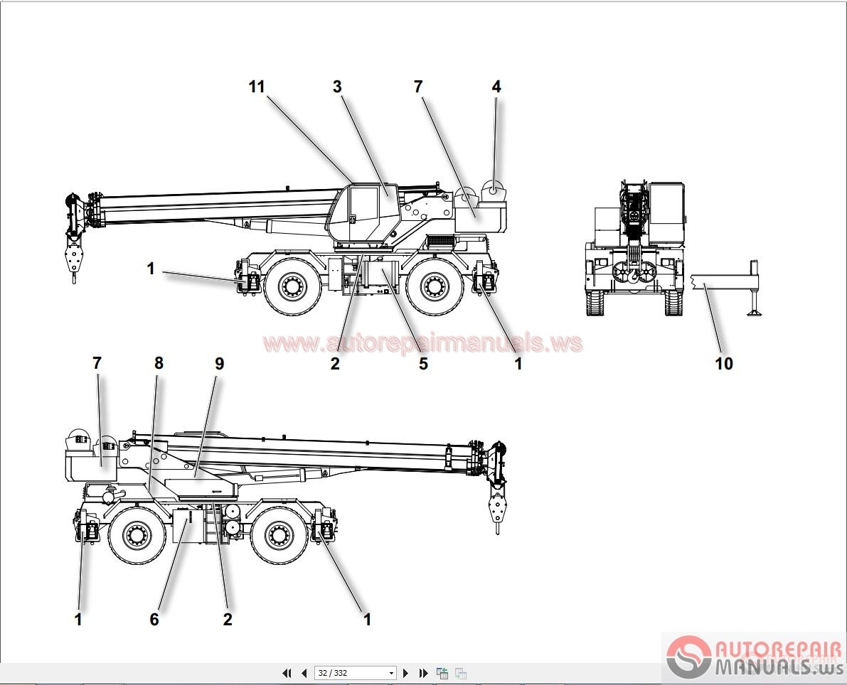 Terex Rough Terrain Crane Rc35 Workshop Manual
