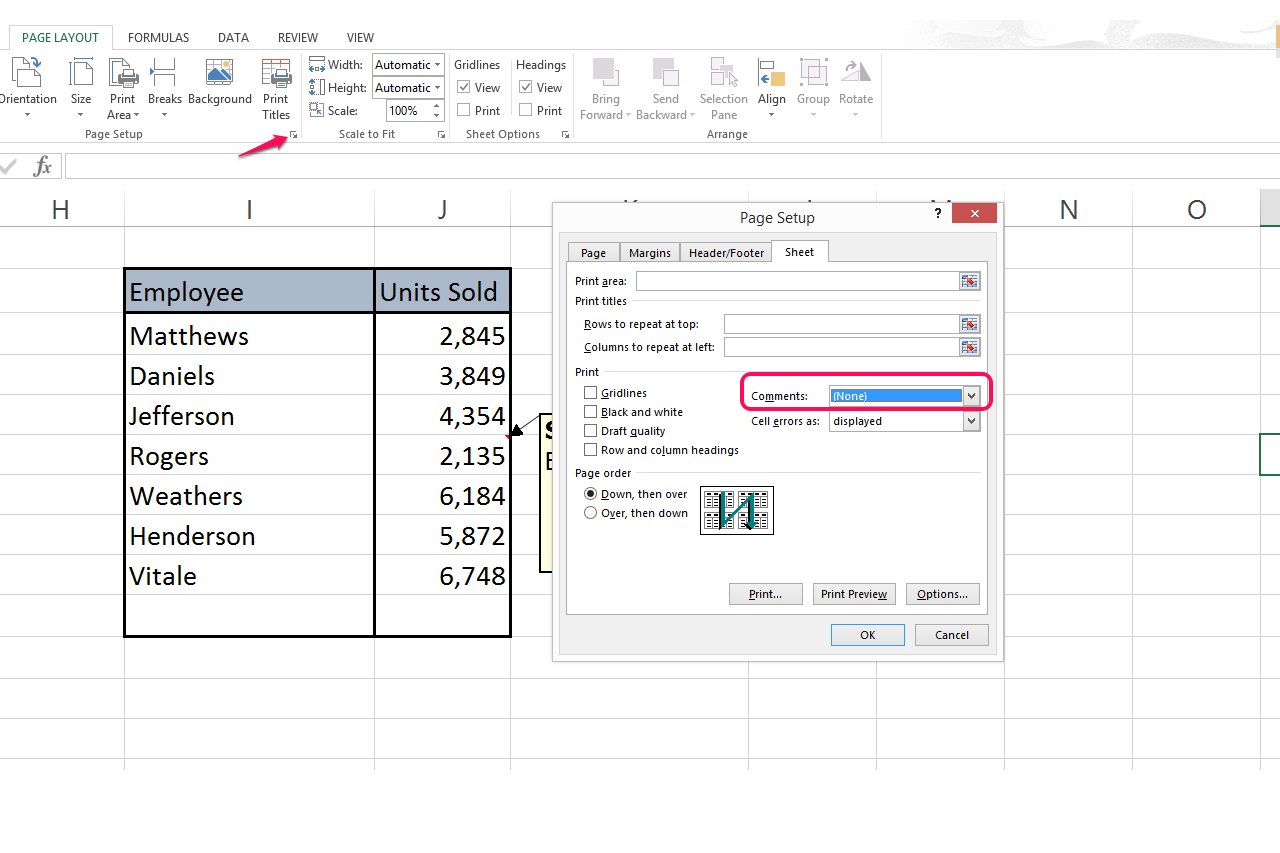 How To Print Comments In Excel With Pictures