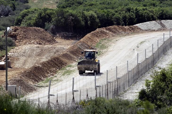 La frontière entre le Liban et Israël près du kibboutz d'Hanita le 20 avril 2017 / AFP