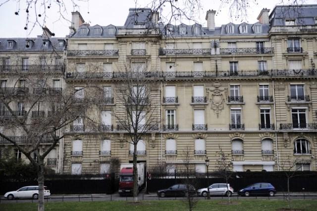 El edificio en la avenida Foch en París, fotografiado 14 de febrero 2012, es una de las 'ganancias mal habidas en el centro del juicio de Vice Presidente de Guinea Ecuatorial, Teodorin Obiang acusó de haber fraudulenta construido en Francia un patrimonio considerable / AFP / Archivos
