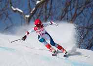 In Pyeongchang, Marie Bochet won the race downhill in front of German Andrea ...