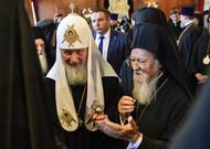 Les patriarches de Moscou, Kirill et Constantinople, Bartholome ...