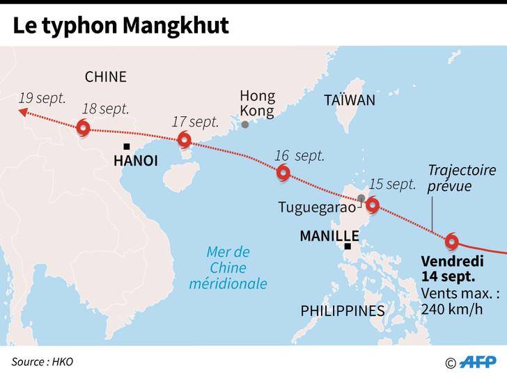 Mangkhut typhoon / AFP