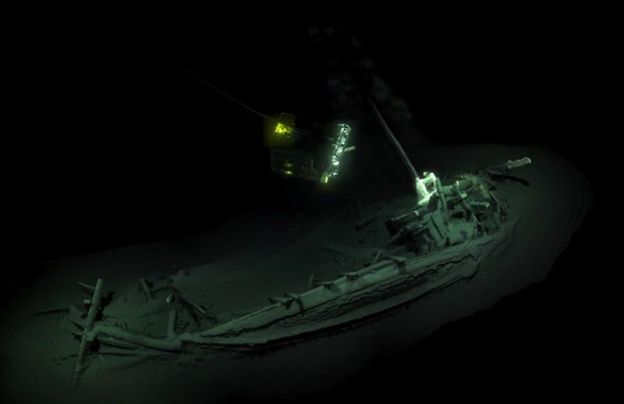 """Photo non datée, fournie le 23 octobre 2018 par l'expédition Black Sea MAP, de la plus vieille épave """"intacte"""" au monde, en mer Noire / Black Sea MAP/EEF Expeditions/AFP/Archives"""