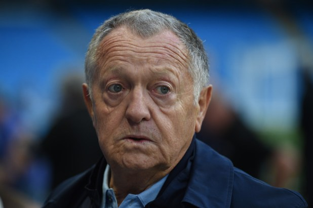 Olympic Lyonnais President Jean-Michel Aulas, September 18, 2018 / AFP / Archives during a training session for the Etihad Stadium in Manchester
