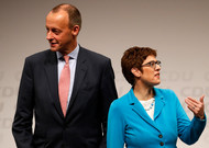 Friedrich Merz and Annegret Kramp-Karrenbauer are the two favorites to succeed ...