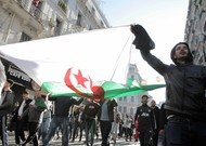 On March 1, 2019, thousands of people demonstrated in Algiers against the cand ...