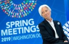 Christine Lagarde, directrice générale du FMI, à Washington le 10 avril 2019/AFP/Archives
