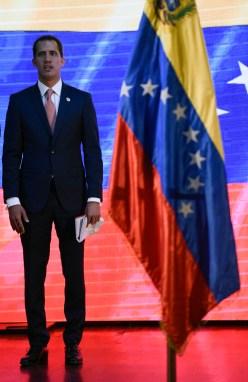 L'opposant vénézuélien Juan Guaido, à Caracas le 11 avril 2019/AFP