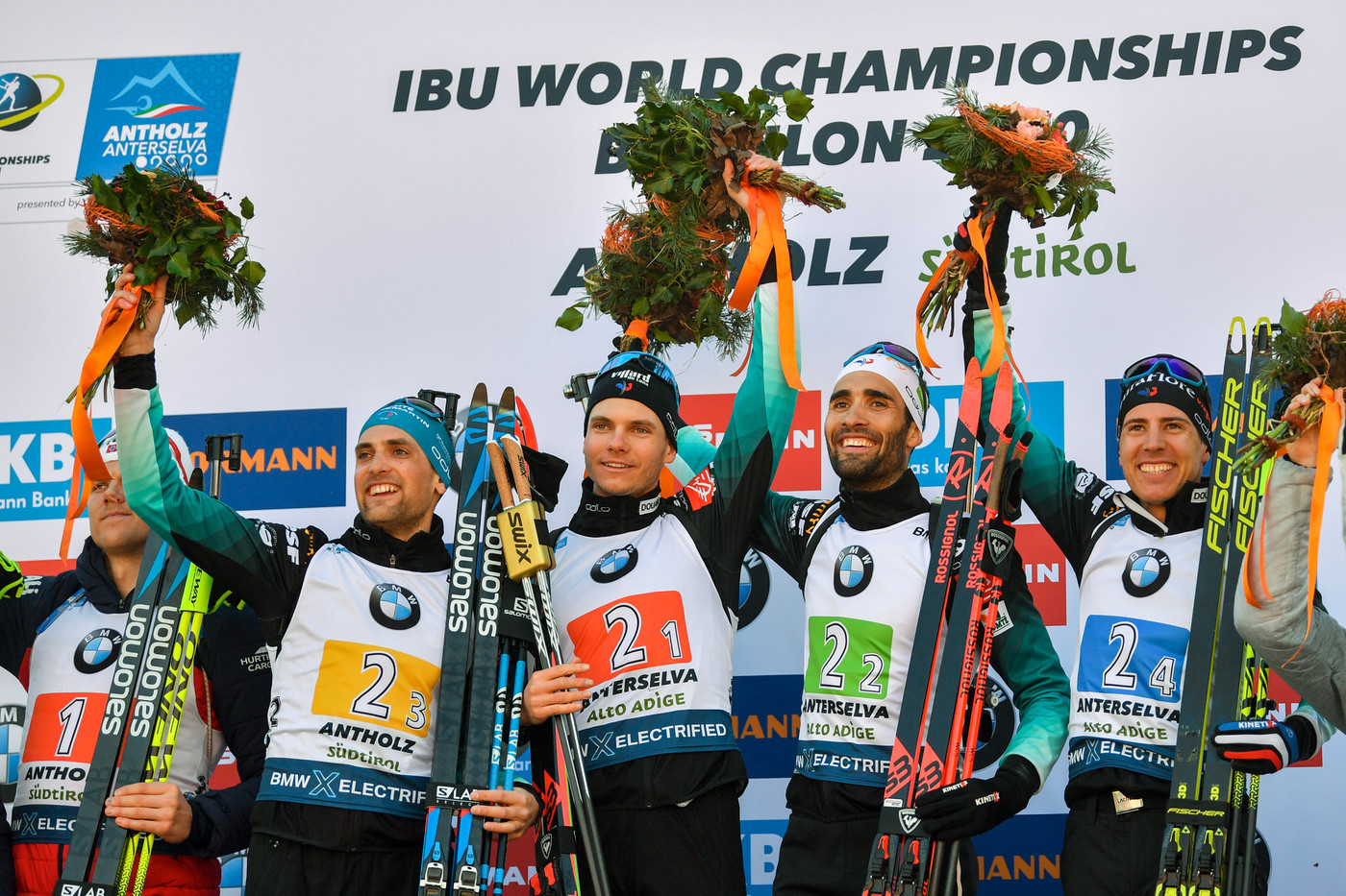 the French win the men's relay